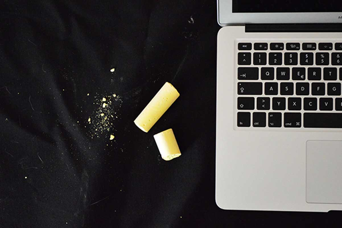chalk and macbook
